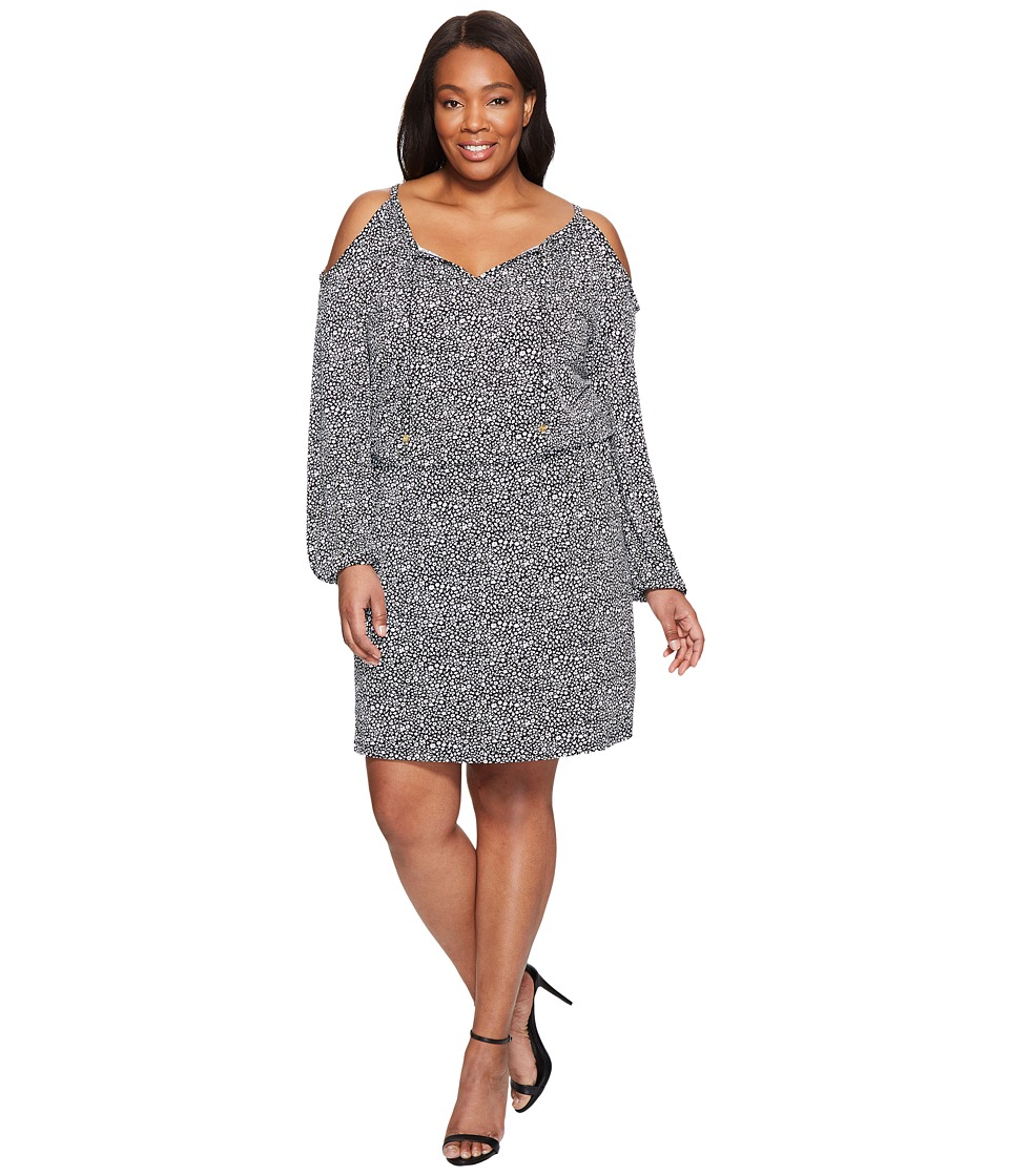 MICHAEL Michael Kors Plus Size Thora Cold Shoulder Dress (Black) Women