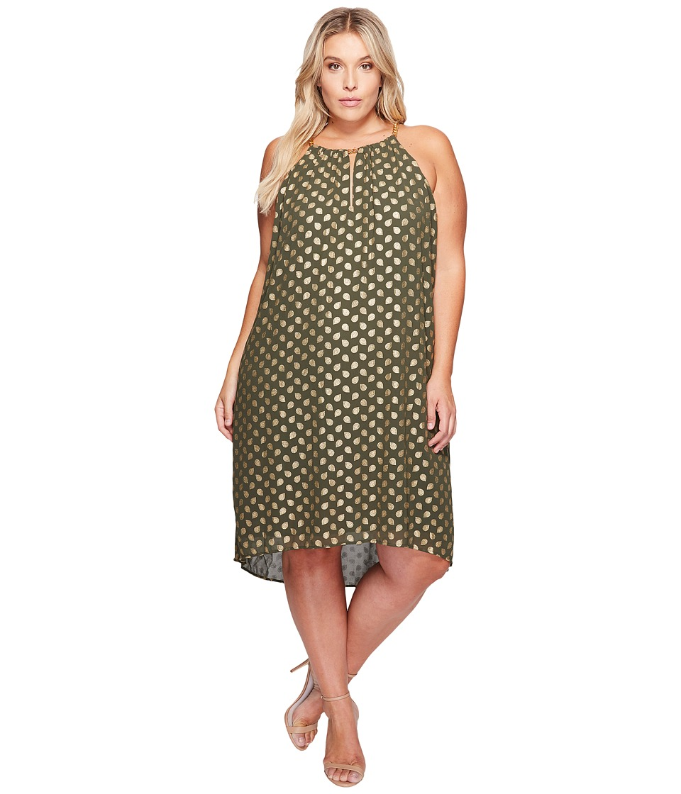 MICHAEL Michael Kors Plus Size Bergalia Chain Dress (Ivy) Women