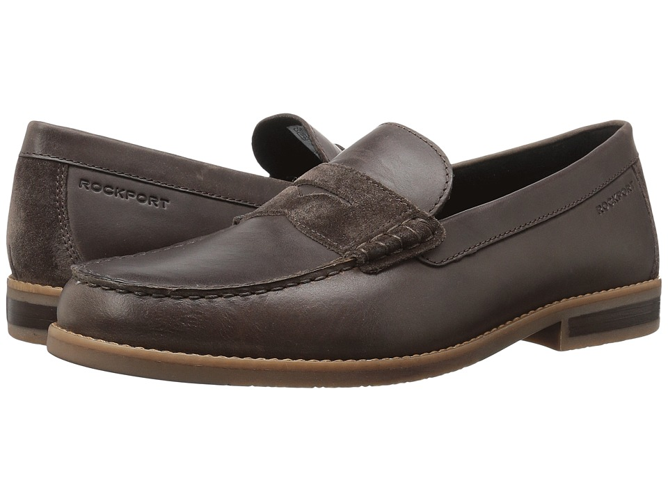 Rockport Cayleb Penny (Dark Bitter Chocolate Leather) Men