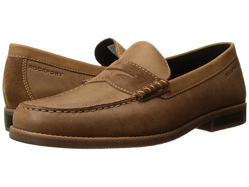 Rockport Cayleb Penny (Tobacco Leather) Men