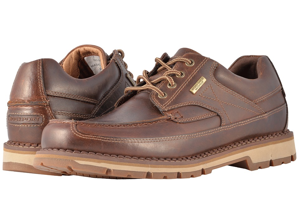 Rockport - Centry Moc Oxford Waterproof (Brown) Mens Shoes