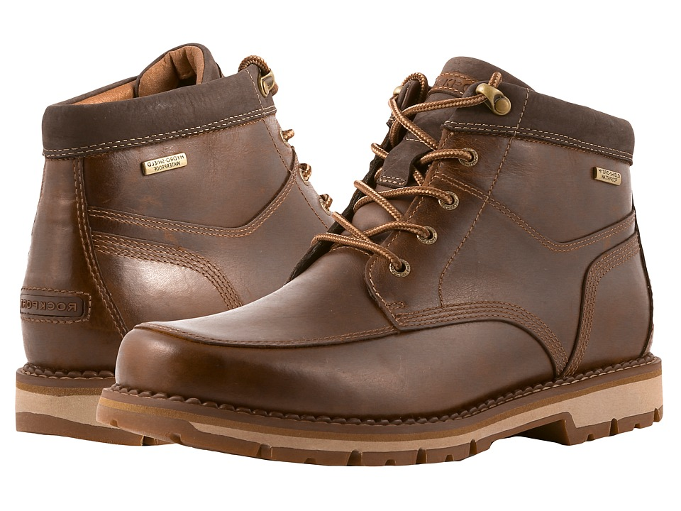 Rockport - Centry Panel Toe Boot Waterproof (Brown) Mens Boots