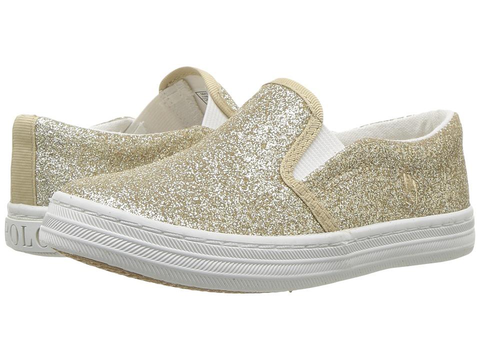 Polo Ralph Lauren Kids - Benton II (Toddler/Little Kid) (Gold Glitter) Girls Shoes