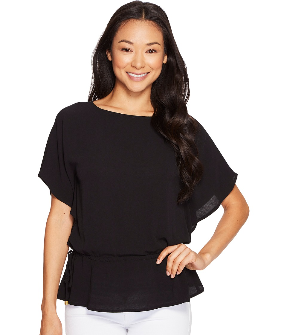 MICHAEL Michael Kors Kimono Sleeve Top (Black) Women