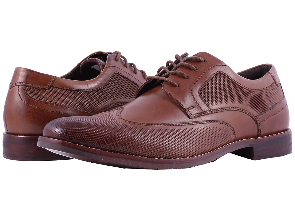 Rockport - Style Purpose Perf Wingtip (Cognac) Mens Shoes