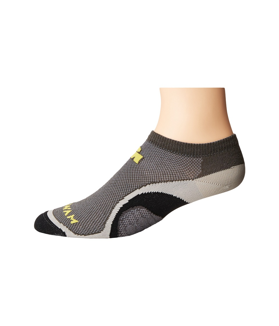 Wigwam - Iron Man Velocity Pro (Charcoal) Low Cut Socks Shoes