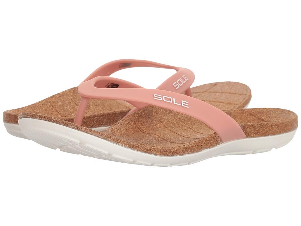 SOLE Beach Flips (Blush) Sandals