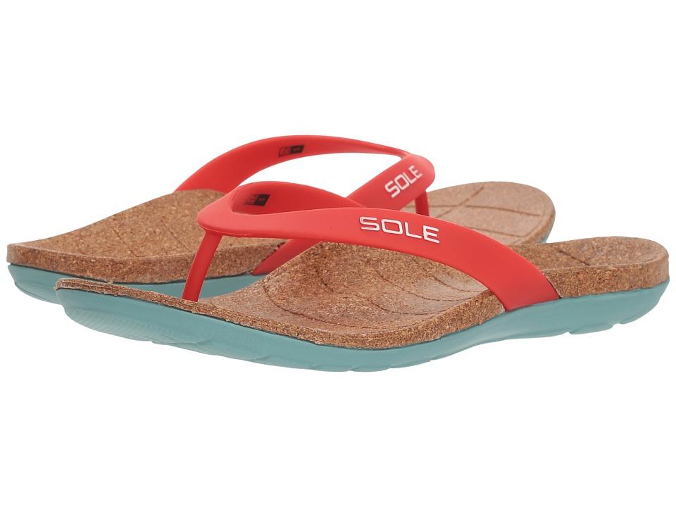 SOLE Beach Flips (Ruby) Sandals