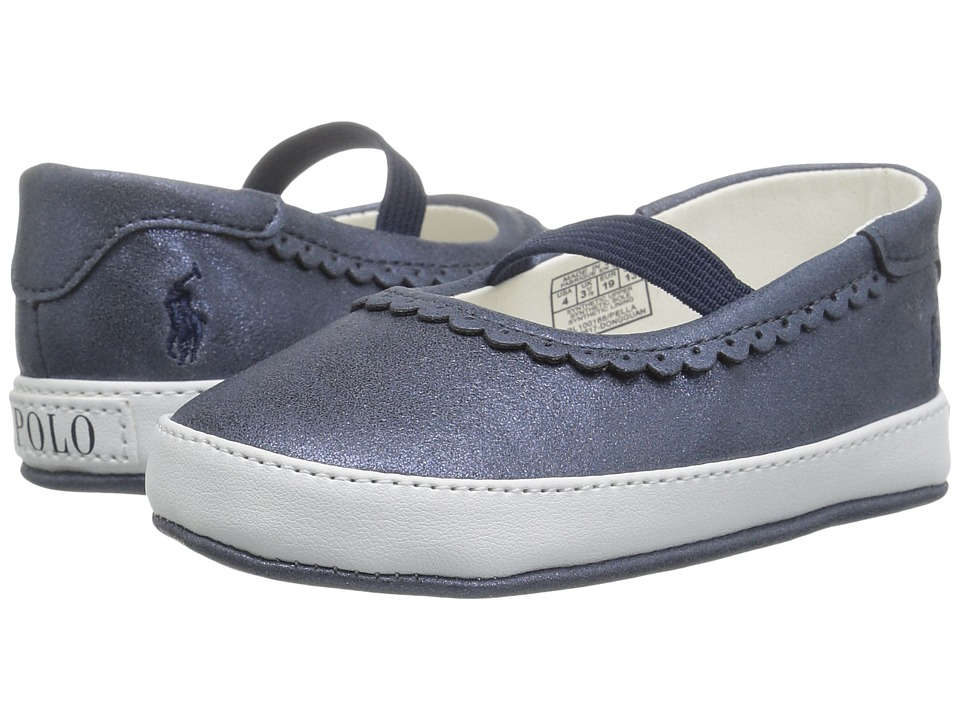 Polo Ralph Lauren Kids Pella (Infant/Toddler) (Navy Shimmer) Girl's Shoes