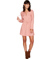Jack by BB Dakota - Char Rayon Twill Lace-Up Dress