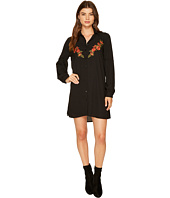 Jack by BB Dakota - Spense Shawdow Stripe Dress with Embroidery Detail