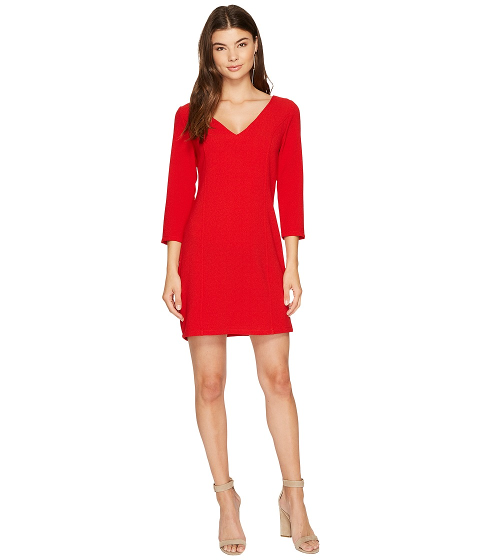Jack by BB Dakota Luther Heavy Crepe Strappy Back Dress (Salsa Red) Women