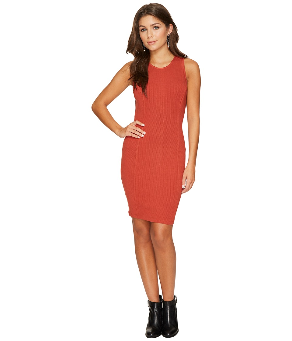 Jack by BB Dakota Gordon Rib-Knit Bodycon Dress (Terracotta Orange) Women
