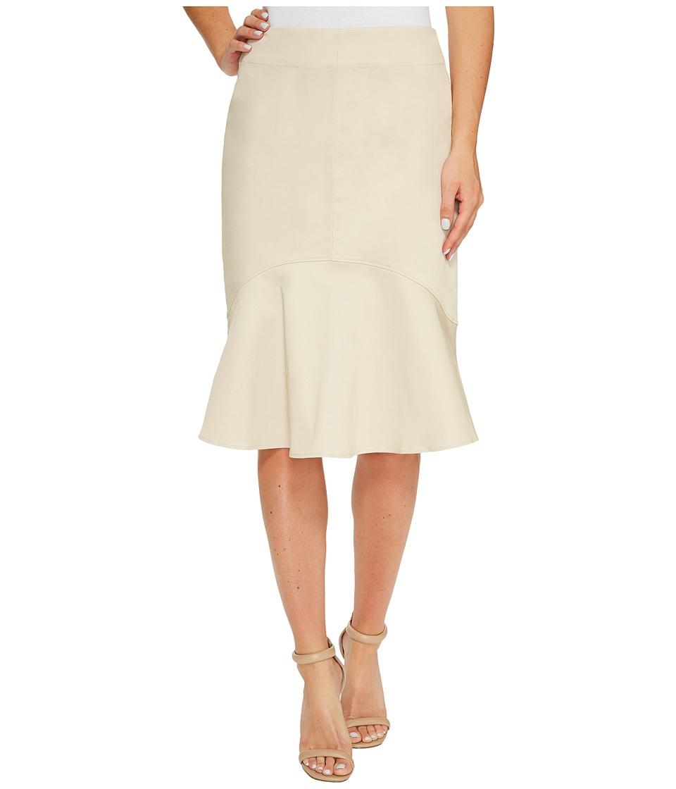 Ellen Tracy Flounce Hem Skirt (Jute) Women