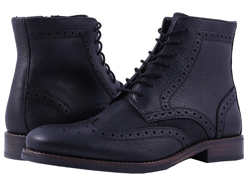 Rockport Wyat Wingtip Boot (Black) Men