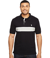 U.S. POLO ASSN. - Engineered Chest Stripe Pique Polo Shirt