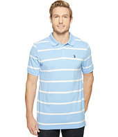 U.S. POLO ASSN. - Thin Striped Pique Polo with Small Pony