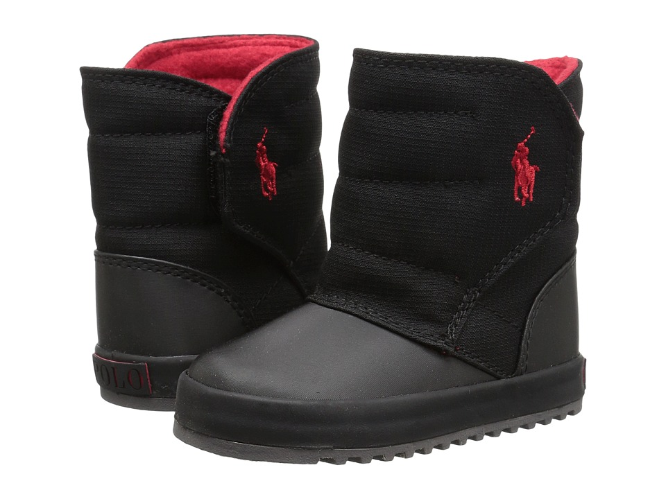 Polo Ralph Lauren Kids Gabriel II (Toddler/Little Kid) (Black Ripstop Nylon w/ Red Pony) Girl's Shoes
