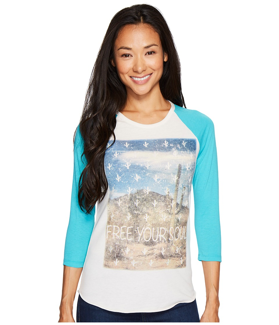 Rock and Roll Cowgirl - 3/4 Sleeve Tee 48T3529