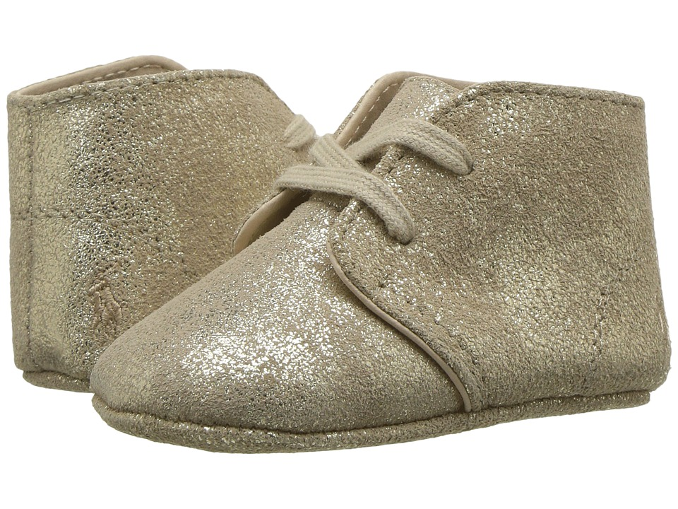 Polo Ralph Lauren Kids Carl (Infant/Toddler) (Gold Metallic) Kid's Shoes
