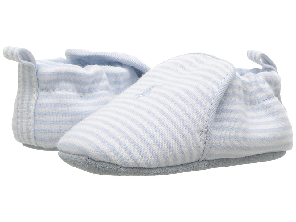 Polo Ralph Lauren Kids Percie (Infant/Toddler) (Light Blue/Cream Striped Jersey) Boy's Shoes