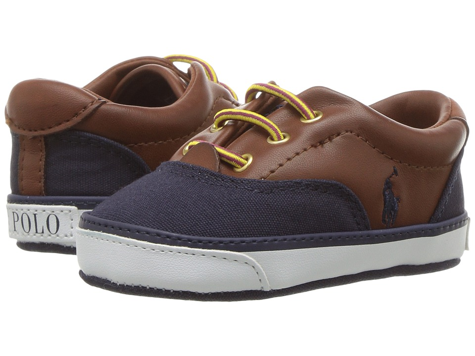 Polo Ralph Lauren Kids Vaughn II (Infant/Toddler) (Navy Canvas w/Tan Tumbled) Boys Shoes