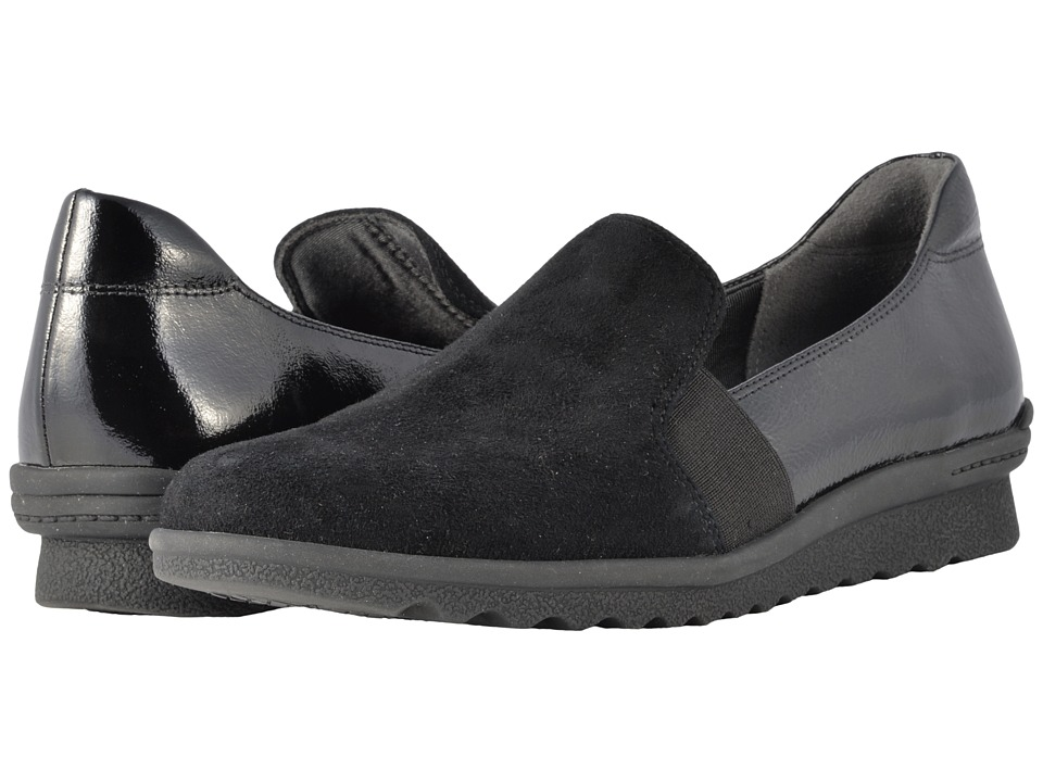Rockport - Truflex Chenole Slip-On (Black Suede) Womens Shoes