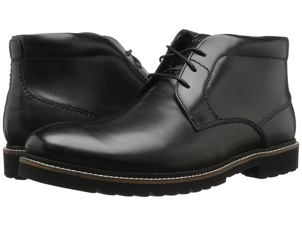 Rockport Marshall Chukka (Black Leather) Men