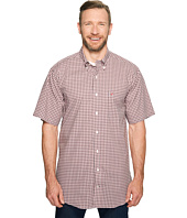 Nautica Big & Tall - Big & Tall Short Sleeve Medium Plaid Wrinkle Resistant Woven Shirt