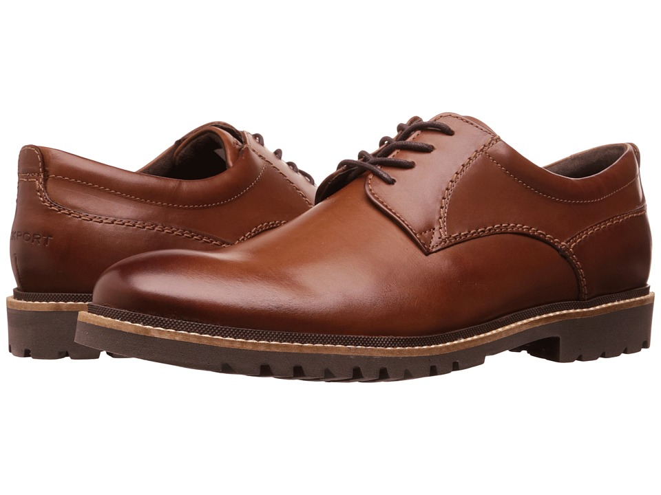 Rockport - Marshall Plain Toe Oxford (Dark Brown) Mens Lace up casual Shoes