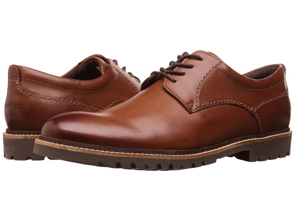 Rockport Marshall Plain Toe Oxford (Dark Brown) Men