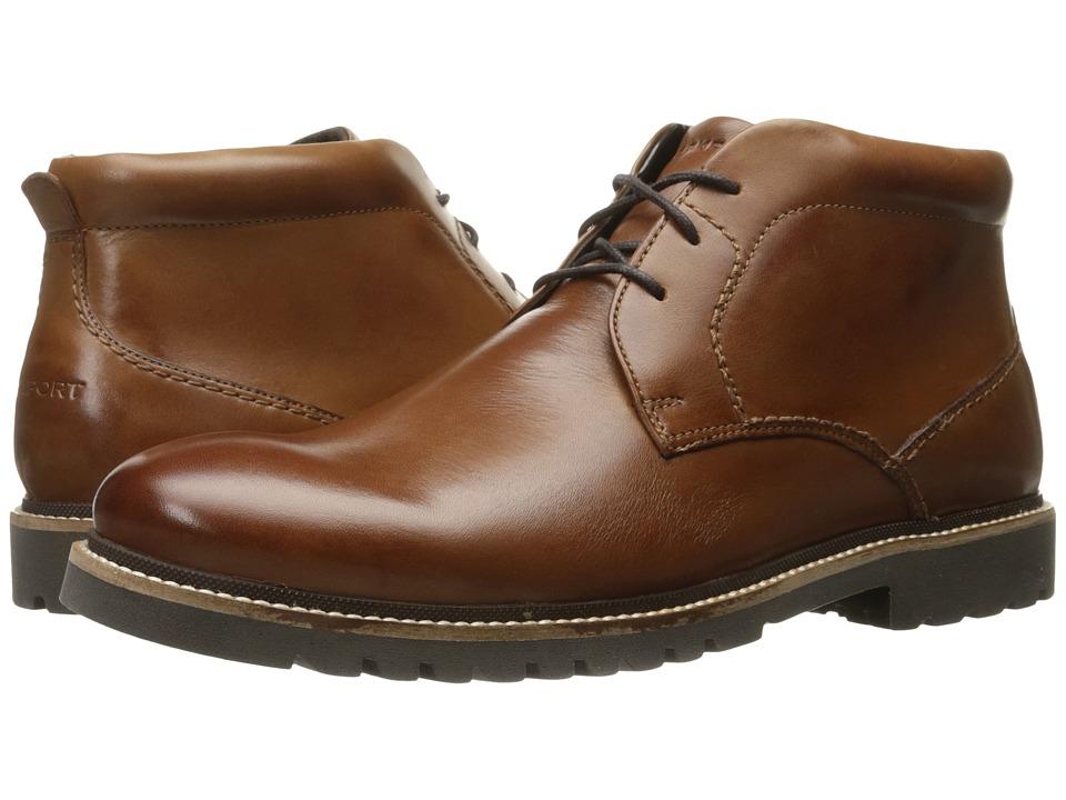 Rockport Marshall Chukka (Cognac Leather) Men