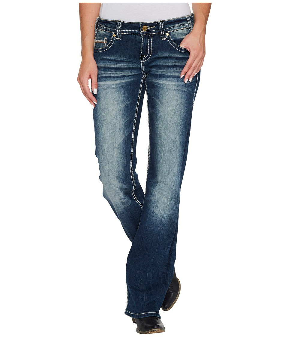 Rock and Roll Cowgirl - Riding Bootcut in Dark Vintage W7-3397 (Dark Vintage) Women's Jeans