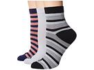 Sperry Rugby Stripe w/ Twist Ankle Sock