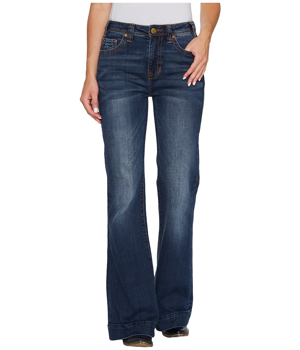 Rock and Roll Cowgirl - High-Rise Trousers in Dark Vintage W8H3406 (Dark Vintage) Women's Jeans