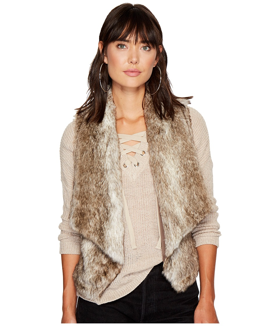 Jack by BB Dakota Dwight Faux Fur Fold-Over Collar Vest (Light Taupe) Women