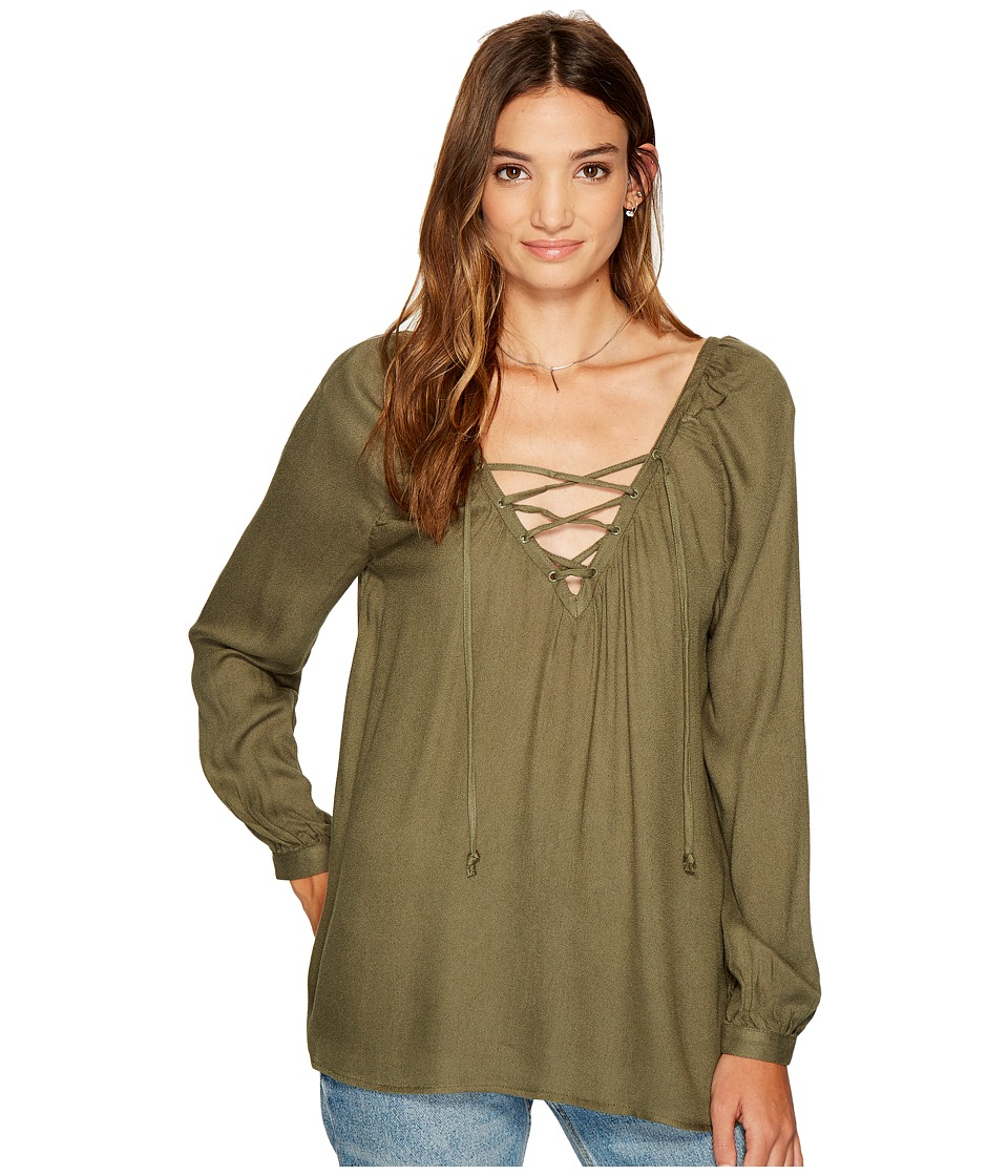 Jack by BB Dakota - Boothe Rayon Crepe Lace-Up Top