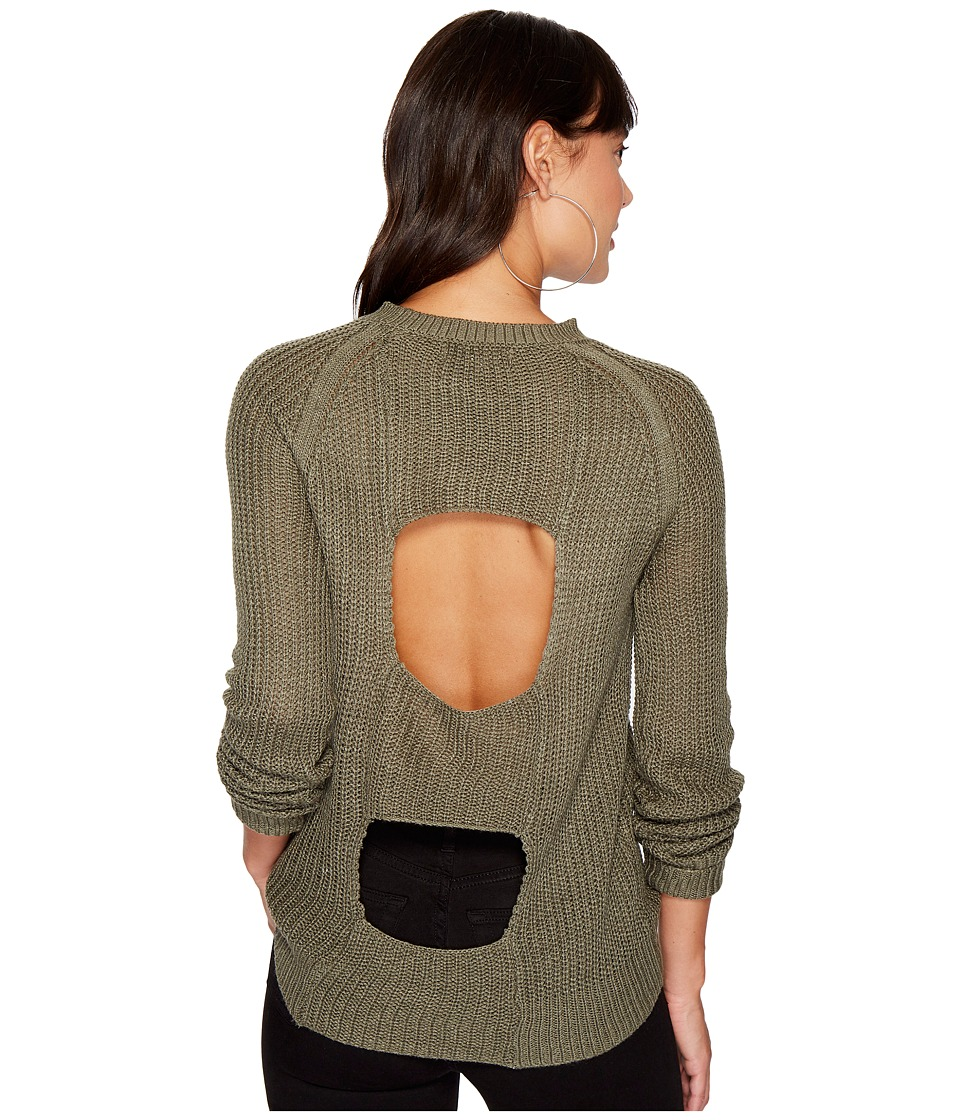 Jack by BB Dakota Percival Open Panel Back Sweater (Light Olive) Women