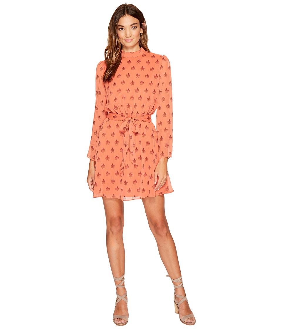 BB Dakota Tabitha Printed Fit Flare Dress (Maple) Women