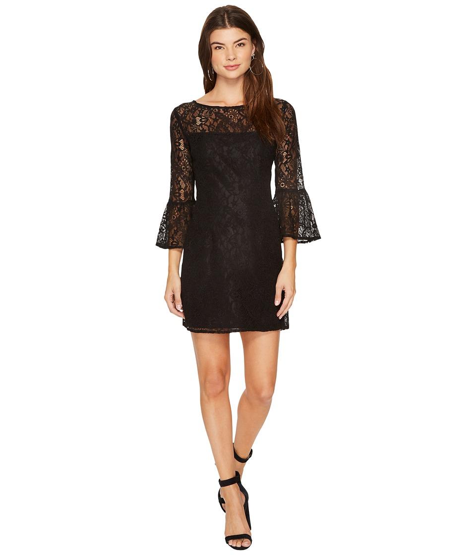BB Dakota Billie Flutter Sleeve Lace Dress (Black) Women