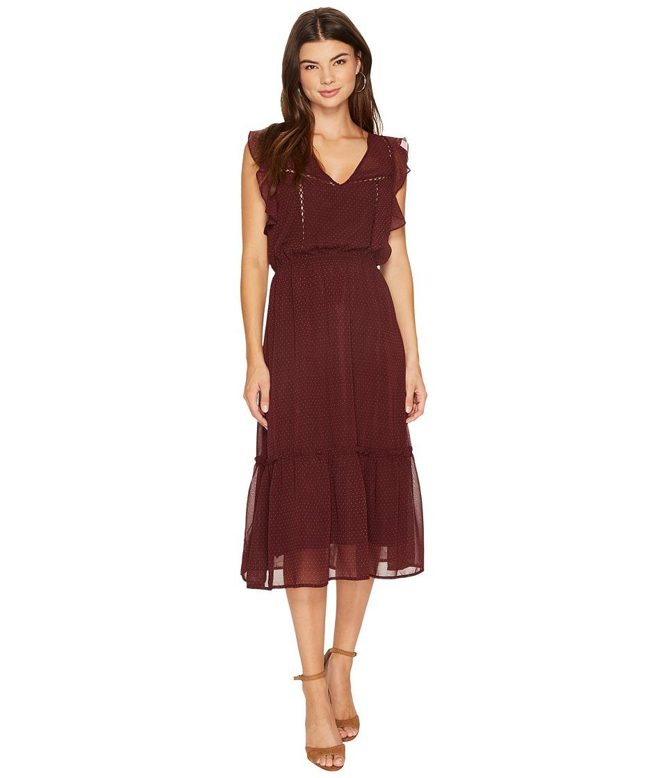 BB Dakota Carra Printed Ruffle Dress (Fig) Women