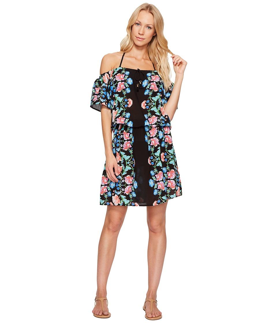 Nanette Lepore - Damask Floral Off the Shoulder Short Dress Cover