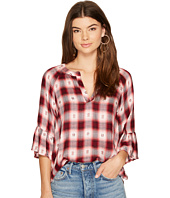 BB Dakota - Vicky Patterned Plaid Top
