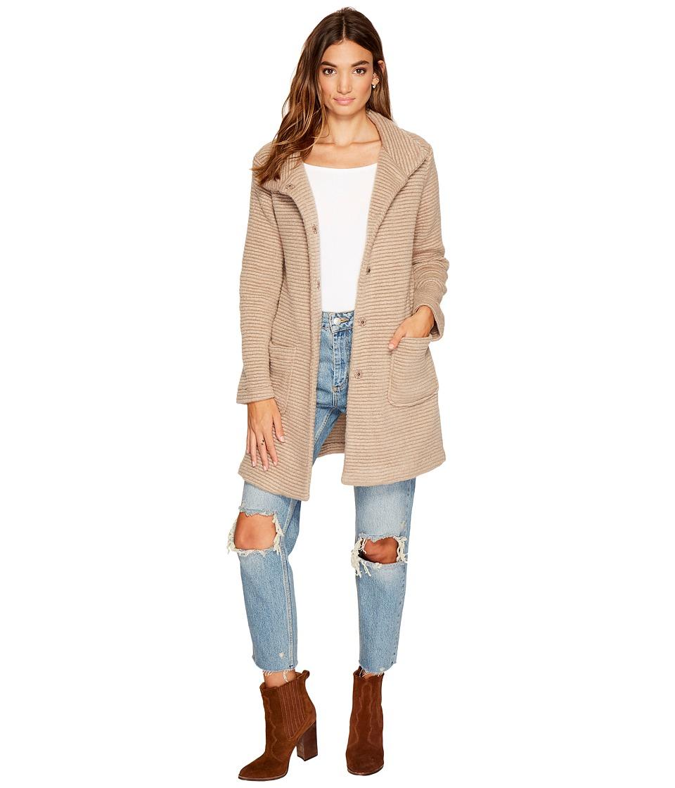 BB Dakota Kingston Ribbed Knit Coat (Camel) Women