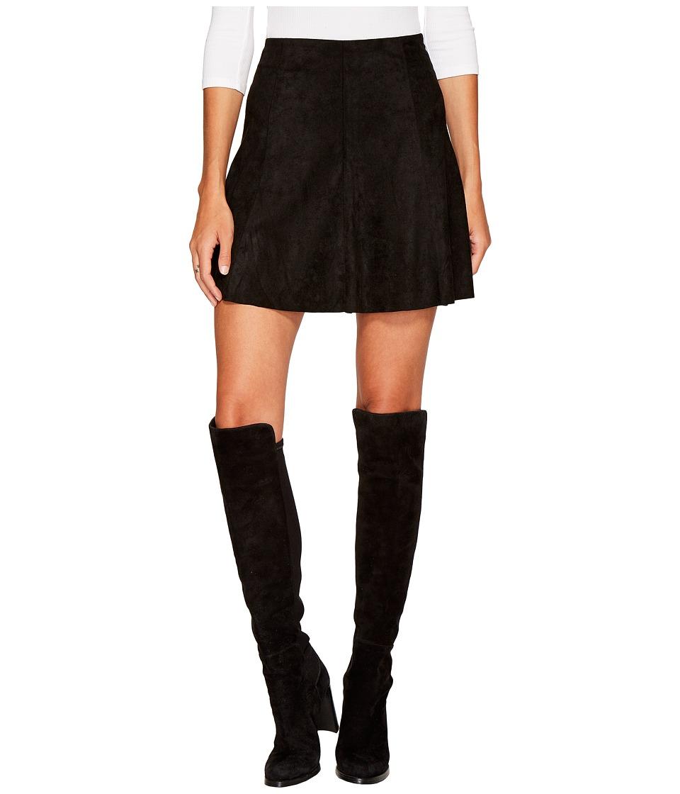 BB Dakota Aileen Faux Suede Skirt (Black) Women