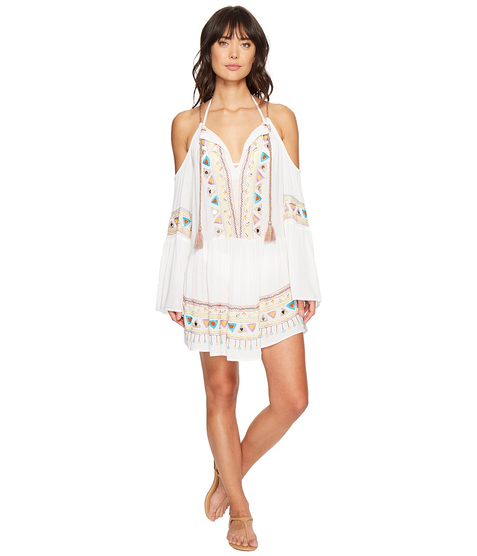 Nanette Lepore African Crinkle Gauze Peasant Tunic Cover-Up (White) Women
