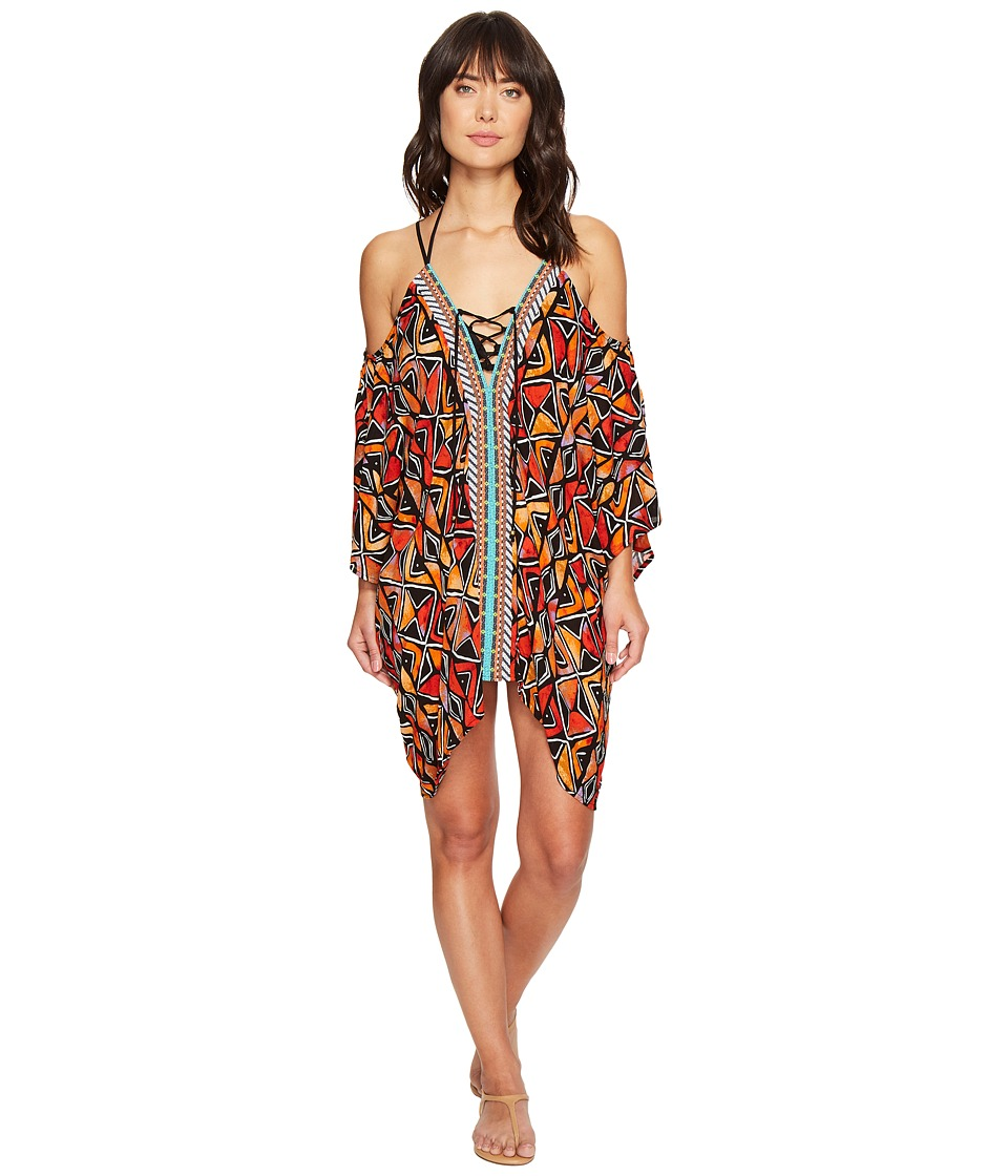 Nanette Lepore Mozambique Off the Shoulder Caftan Cover-Up (Multi)