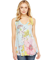 Nally & Millie - Floral Print V-Neck Tank Top