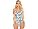 Fira Floral V-Front Bandeau One-Piece Swimsuit