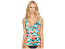 Floriana Over-The-Shoulder Tankini With Hardware
